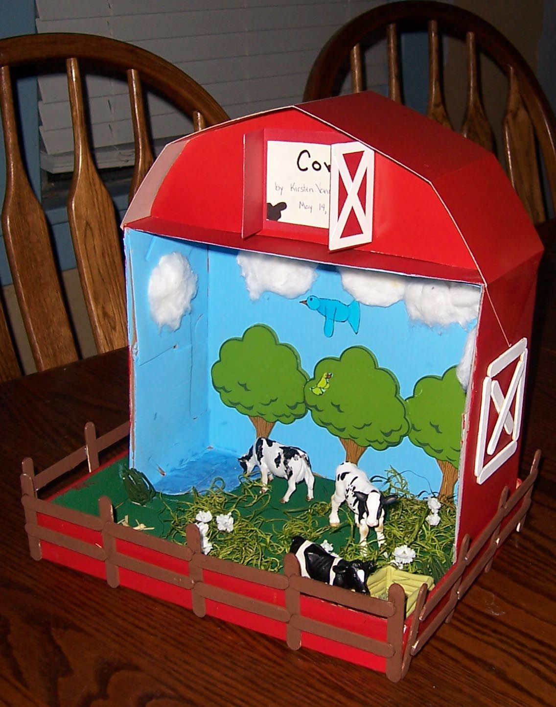3rd Grade Diorama Cow Farm