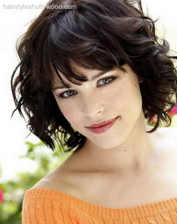 Hair Curly Short Hairstyle For Round Faces