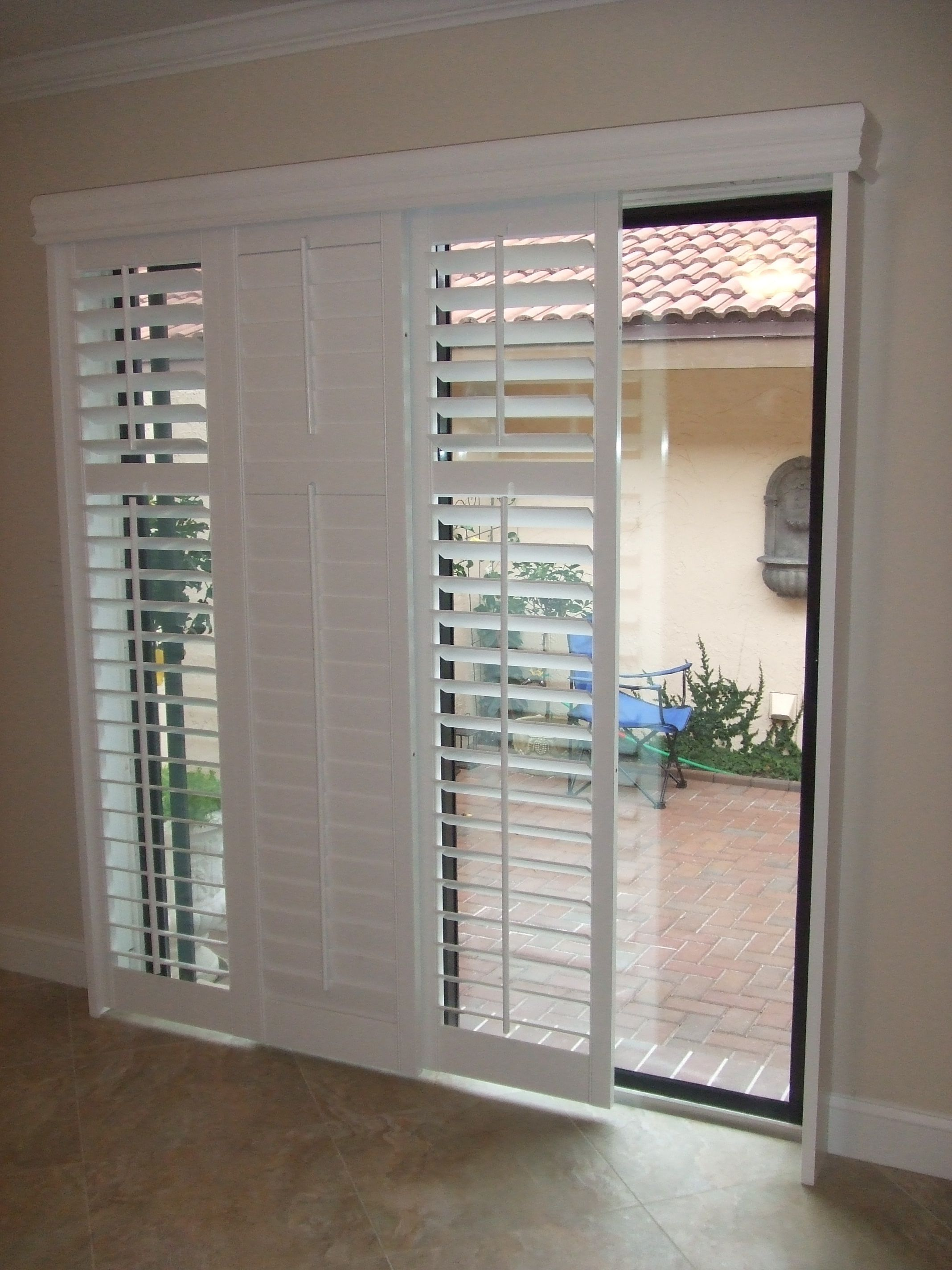 interior french doors with blinds inside