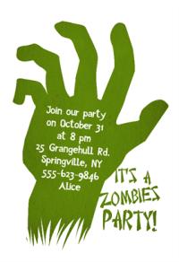 free printable zombie halloween invitations