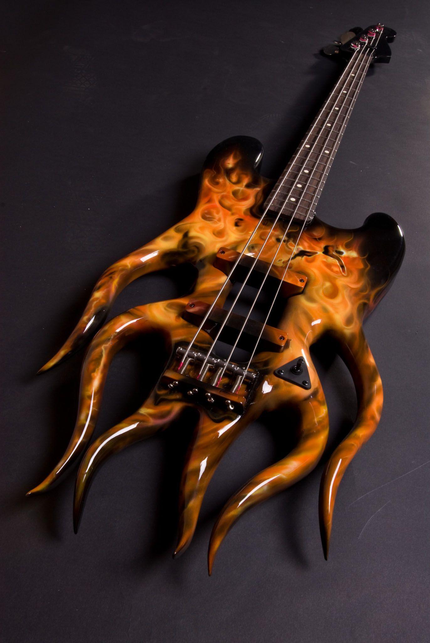 Custom Flame Bass