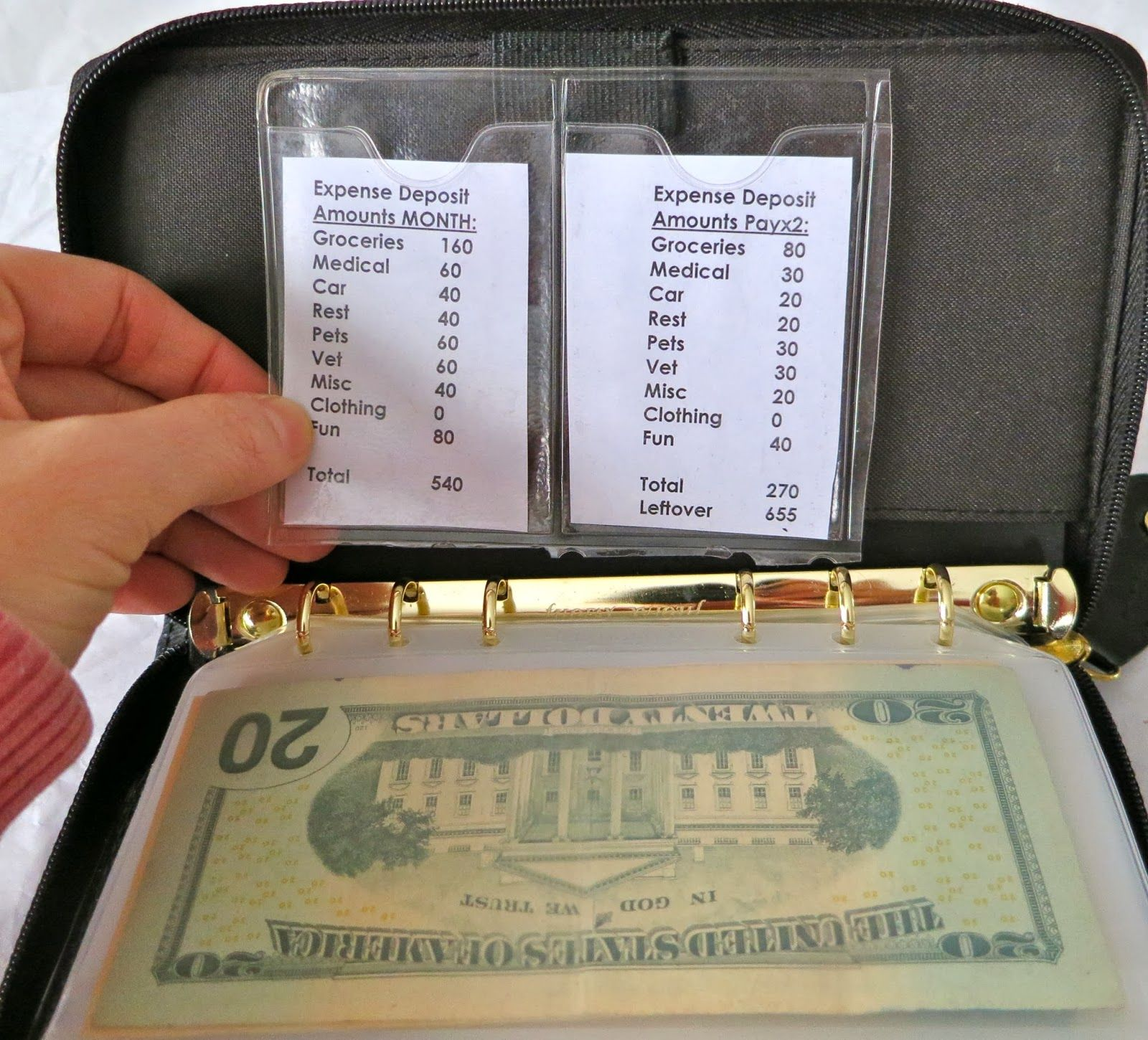 A Look At My Filofax Budget Envelope System See My Dave