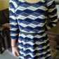 Price dropnavylt bluewhite pattern business style beige