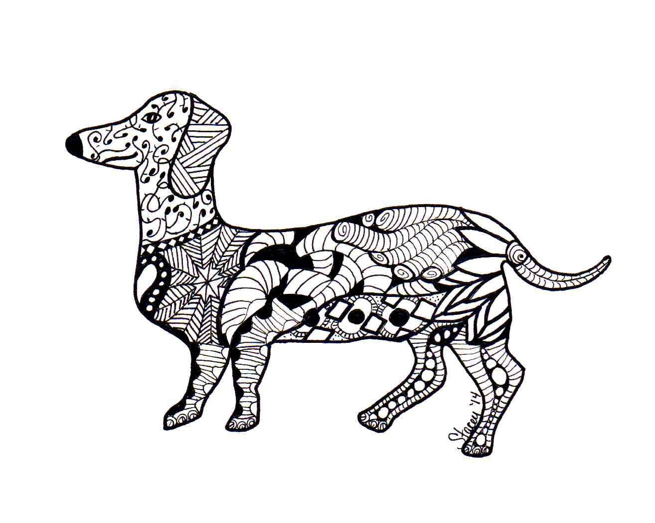 Zentangle Dachshunds