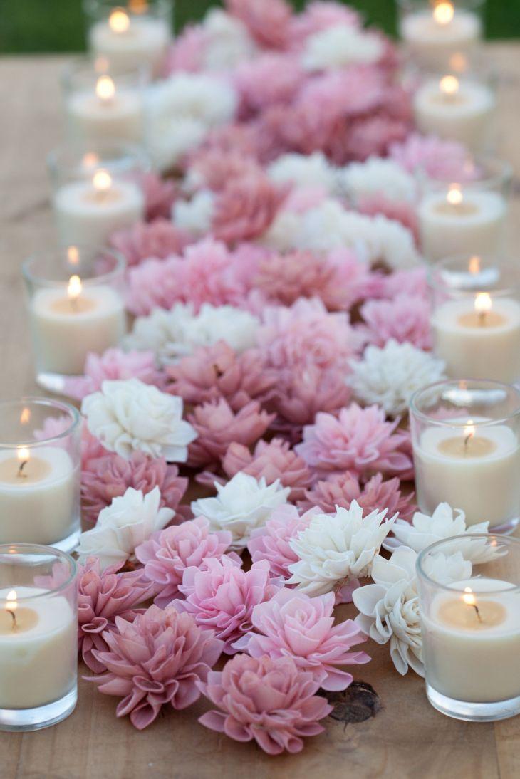 Blush Wooden Flowers Wedding Decorations Wedding Flowers
