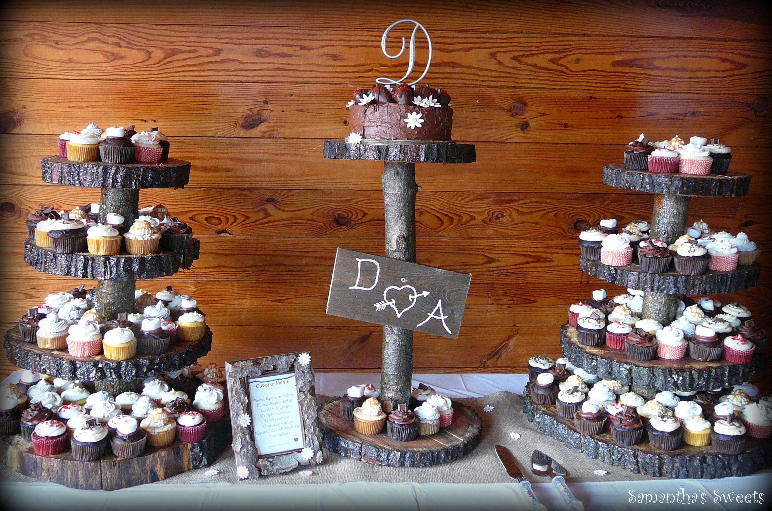 Rustic Wedding Cupcakes! Www.samantha-sweets.com #rustic