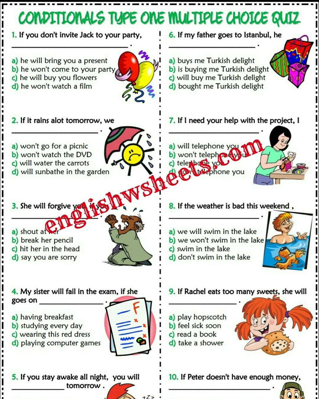 Conditionals Esl Printable Worksheets And Exercises