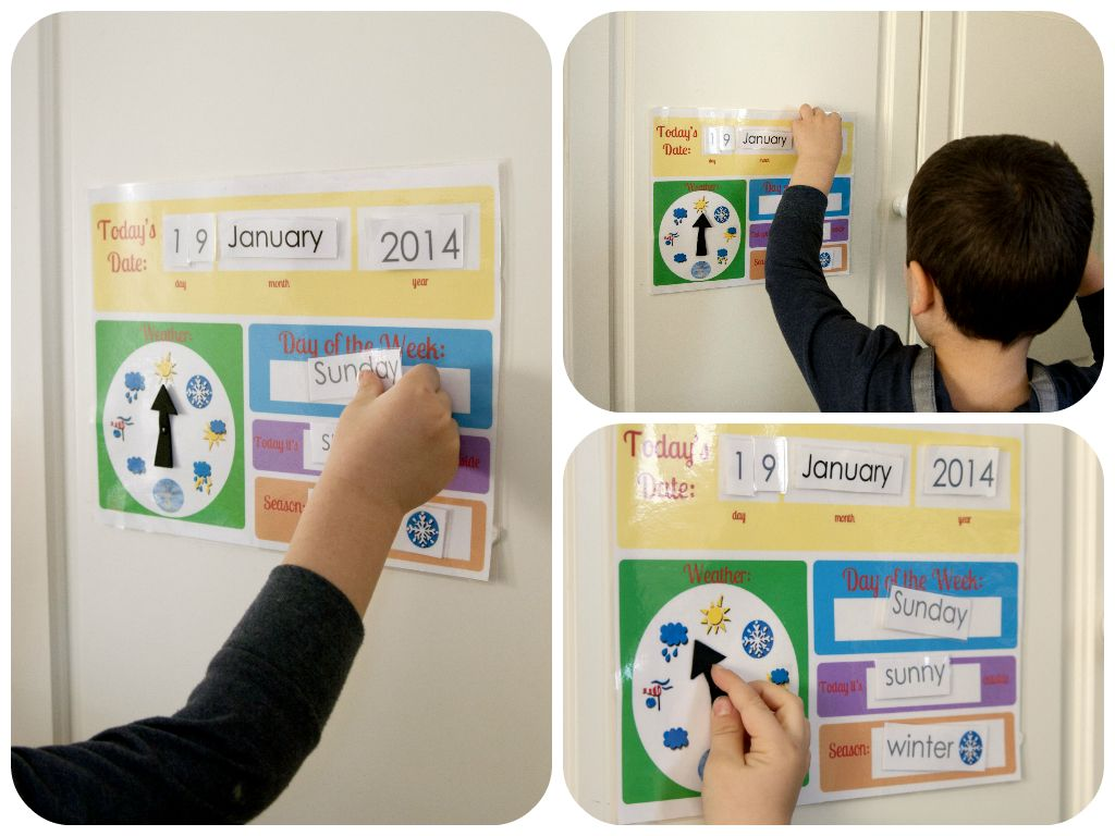 Calendar And Weather Board Printables