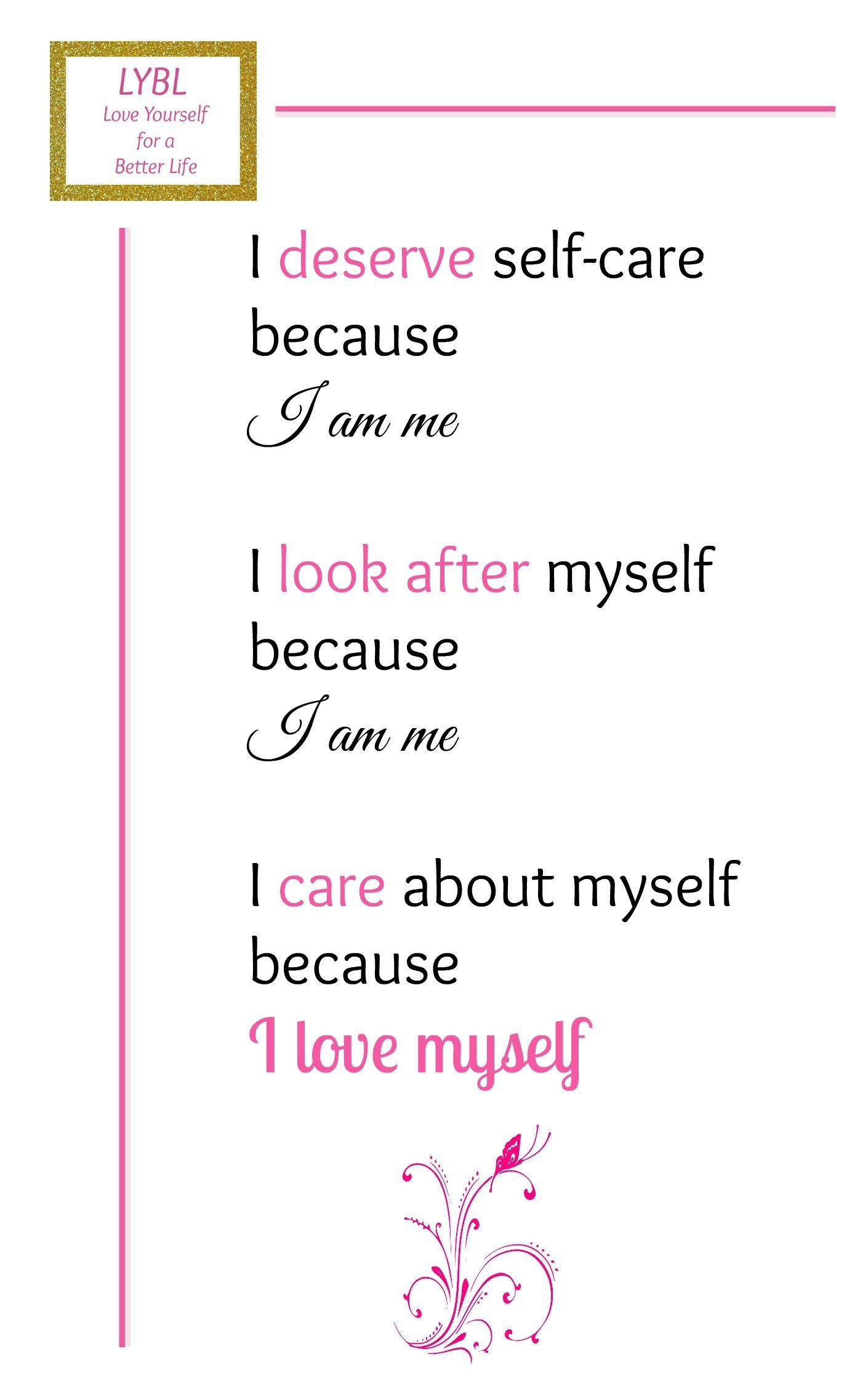 Self Care Plan Worksheet