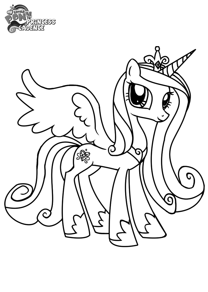 Princess Cadence Coloring Pages Tarjetas Y Algo Mas Pinterest