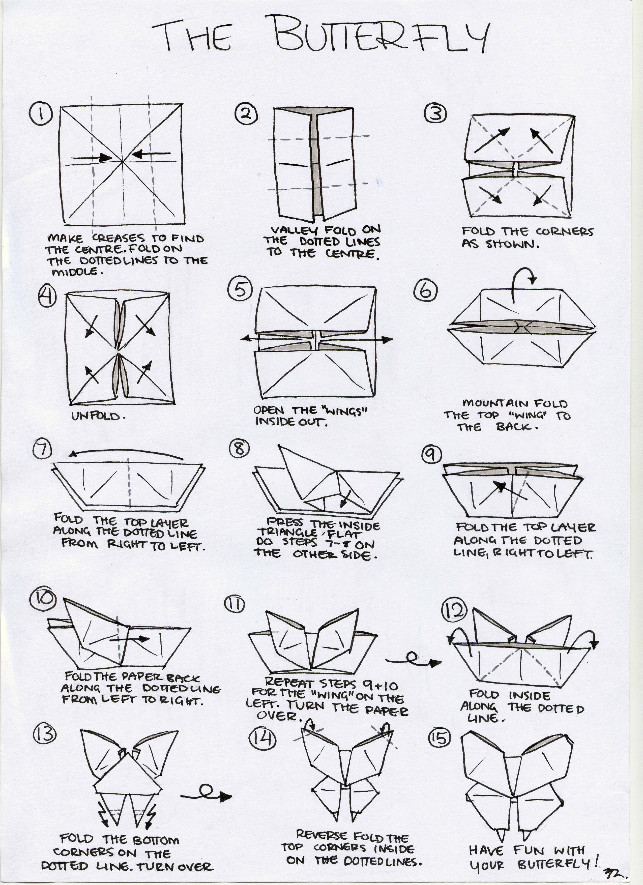 Notes Butterfly Origami