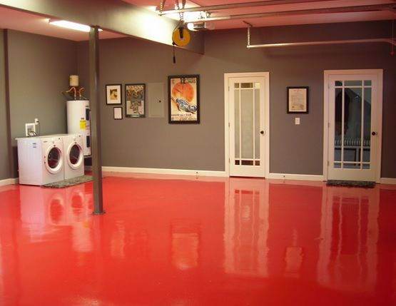 red epoxy basement floor paint ideas basement on concrete basement wall paint colors id=66001