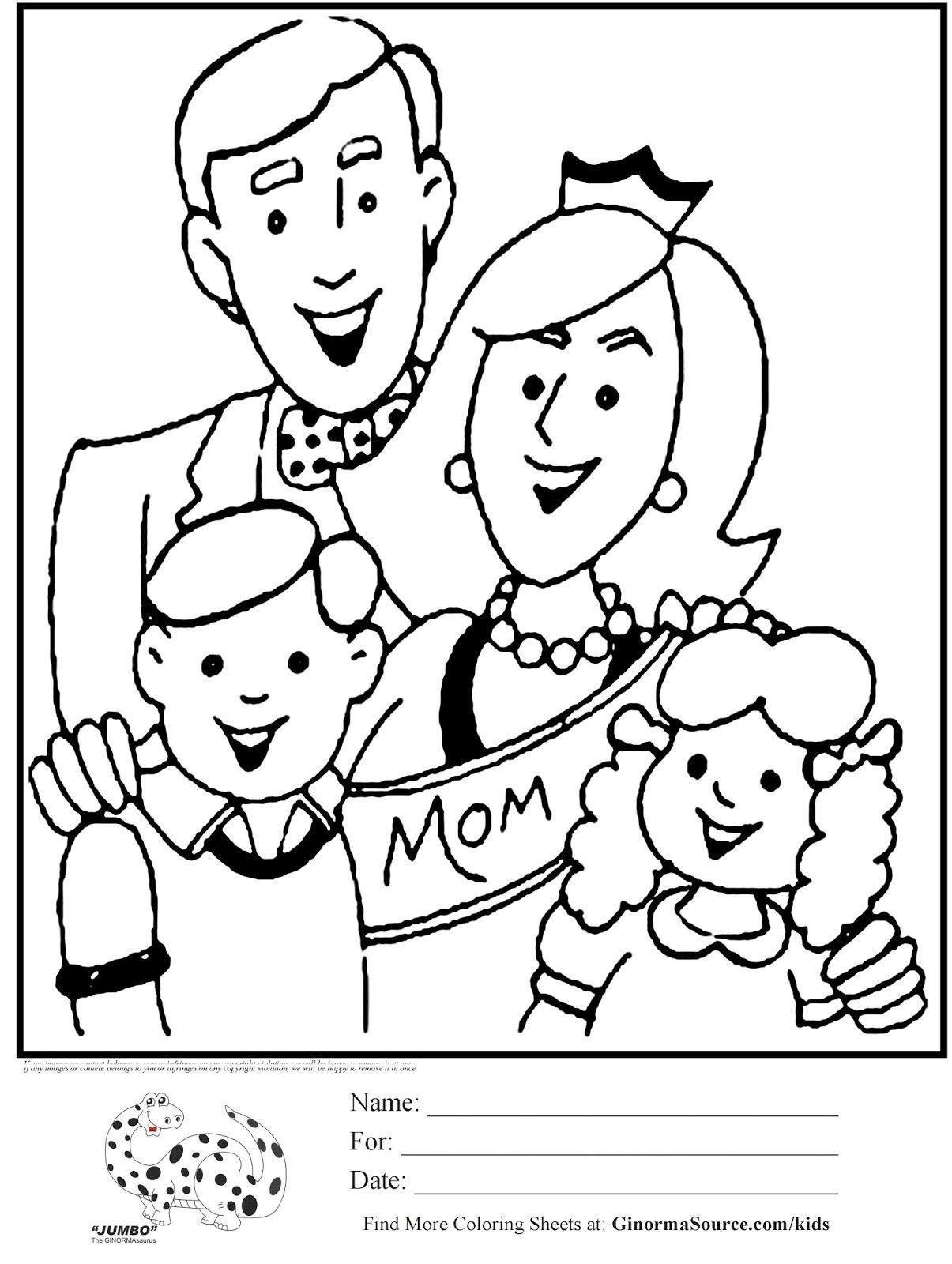 7 Mewarnai Gambar Mama Dan Papa