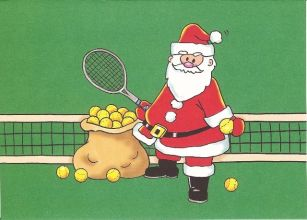 Image result for santa claus tennis