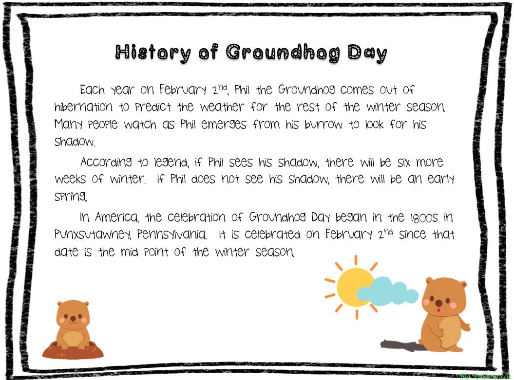 English Teacher Happy Groundhog Day