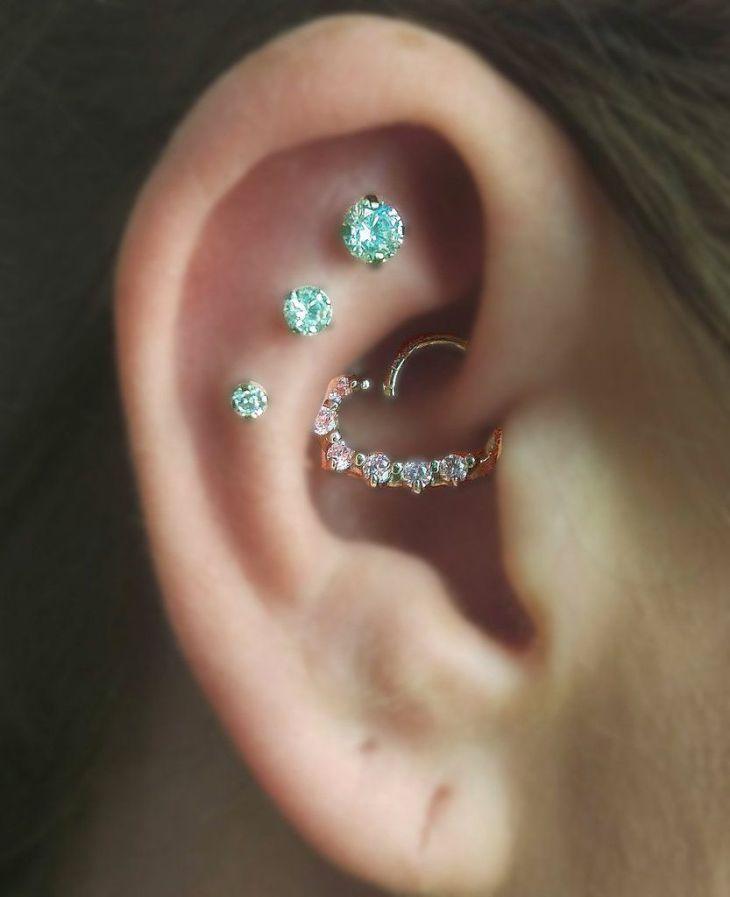 Multiple Ear Piercing Ideas at MyBodiArt  Tatto  Pinterest