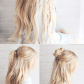 Best hairstyles for long hair boho braided bun hair step by step
