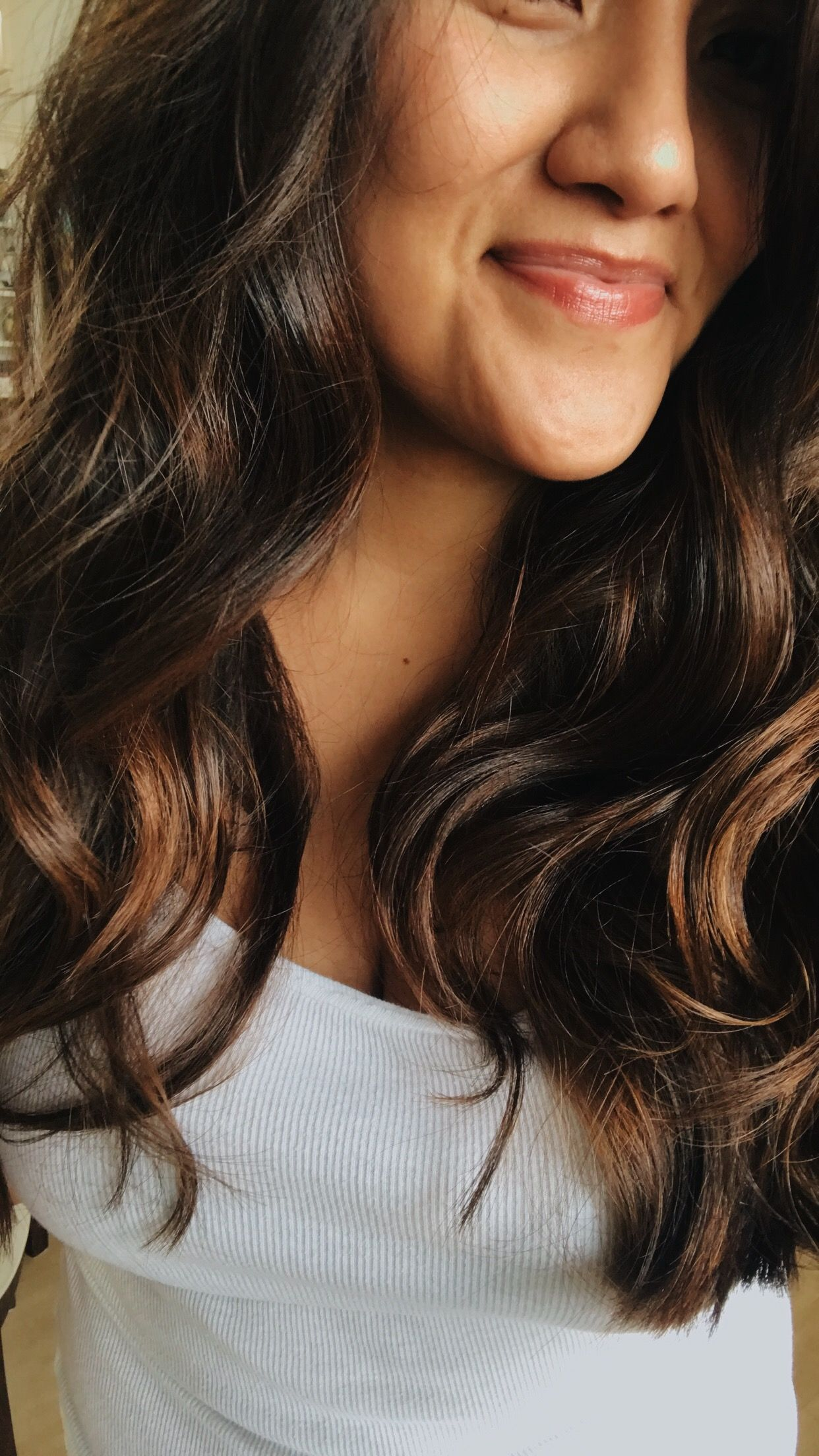 Aveda brunette balayage done by styleme bee aveda brown brunette