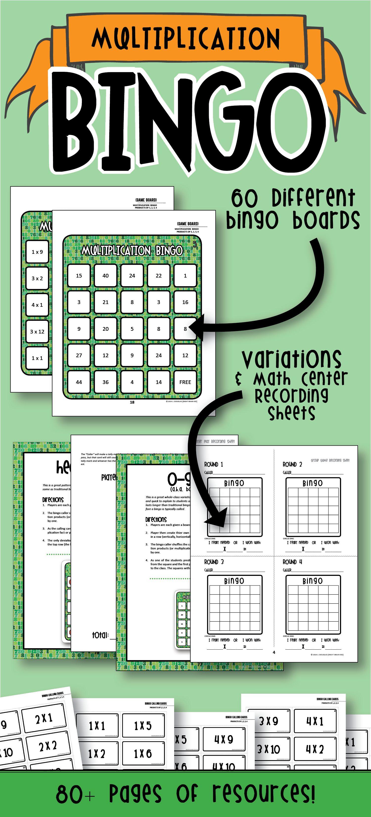 Multiplication Bingo Factors Of 1 4