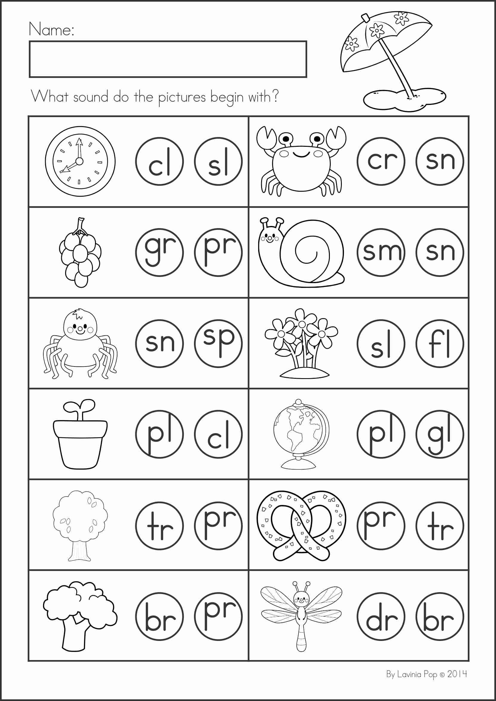 Spring Plants Kindergarten Worksheet
