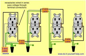 wiring diagram receptacles in series   electrical   Pinterest   Electrical wiring, Woodworking