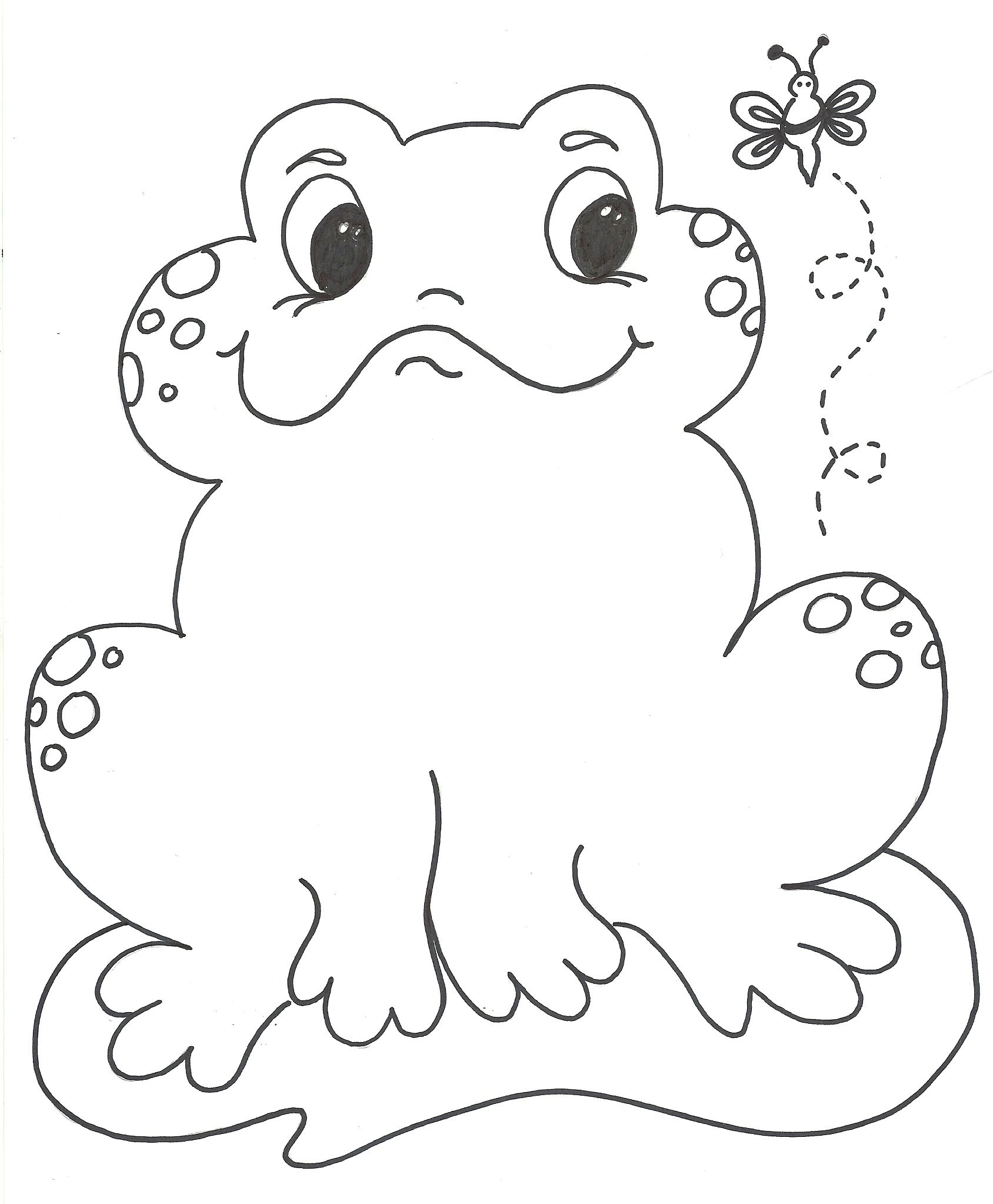 Coloring Pictures Of Frogs For Kids