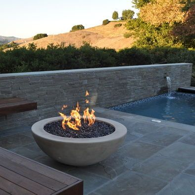 Spaces Concrete Fire Pit Design | For the Home | Pinterest ... on Modern Boma Ideas id=15071