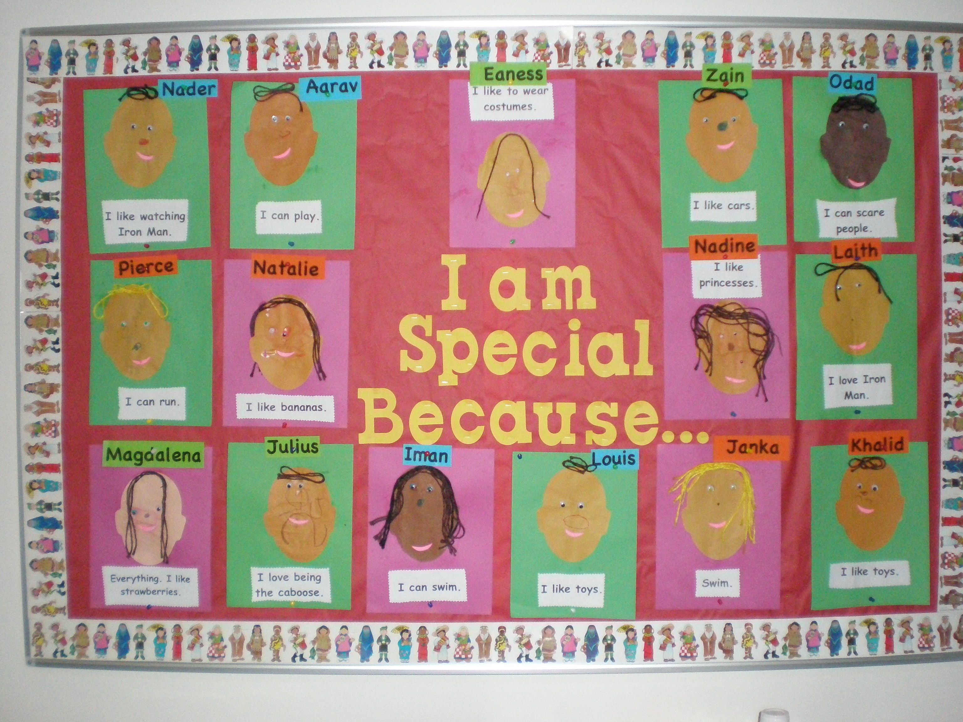 I Am Special Because Bulletin Board