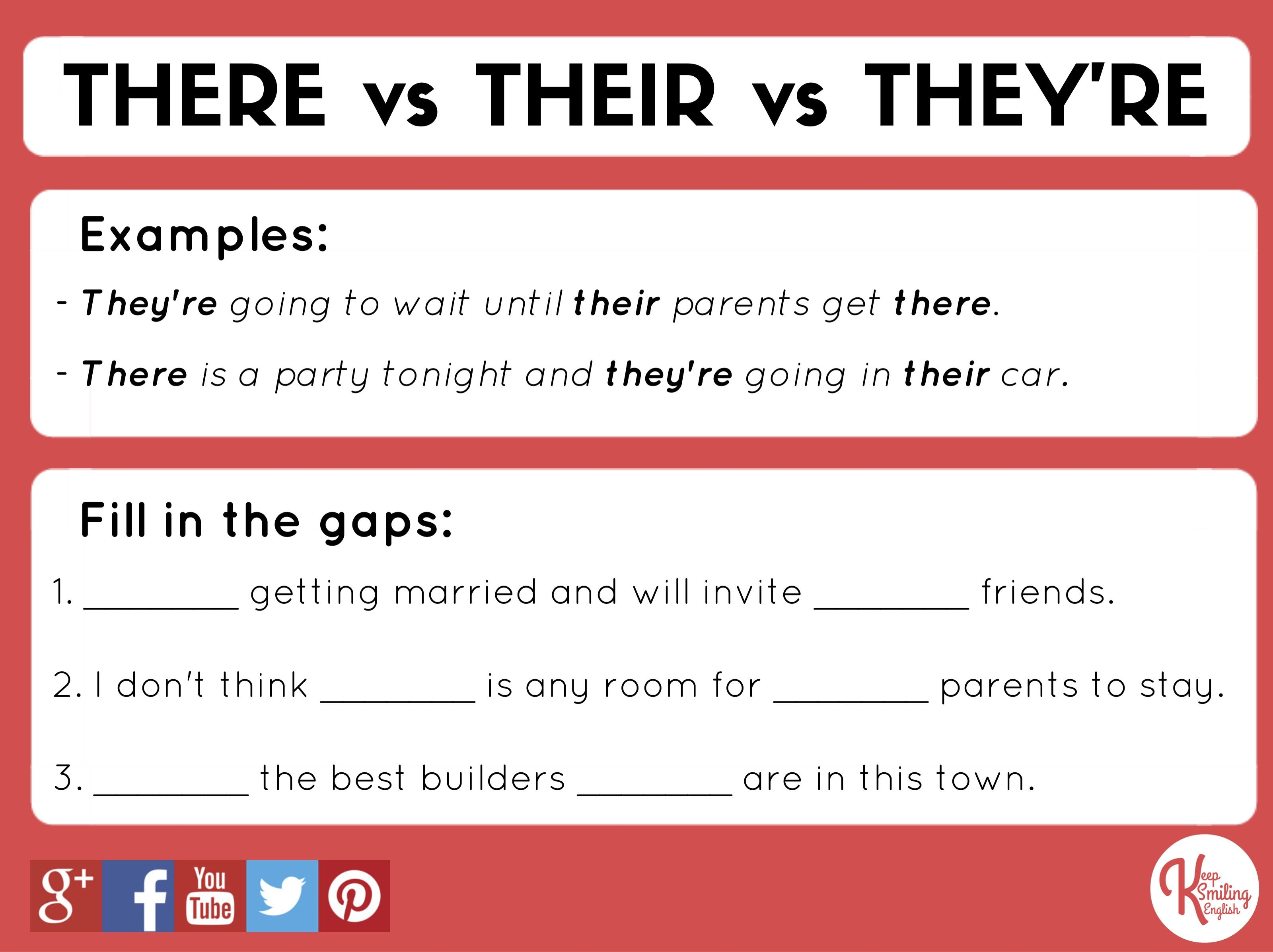 Grammar There Vs Their Vs They Re