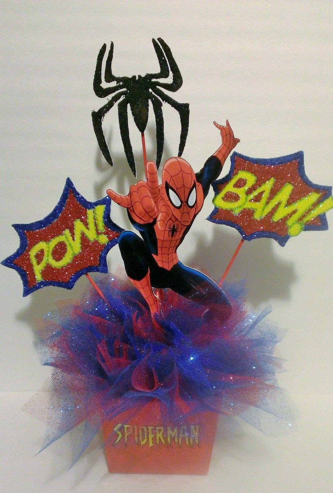 Spiderman Centerpiece Birthday Party Baby Shower
