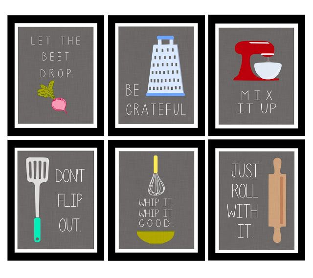 cute kitchen printables for the home pinterest kitchens drop and kitchen wall art on kitchen decor paintings prints id=33691