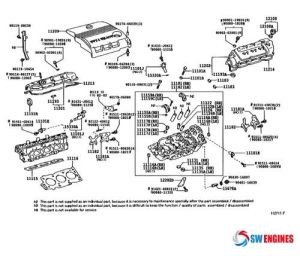 2005 Toyota Camry Exploded Engine Diagram #SWEngines