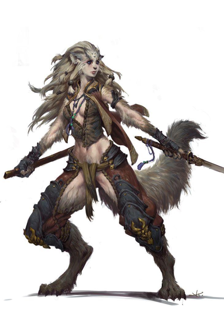 Felinelike Female Warrior Femalecharacter Pinterest