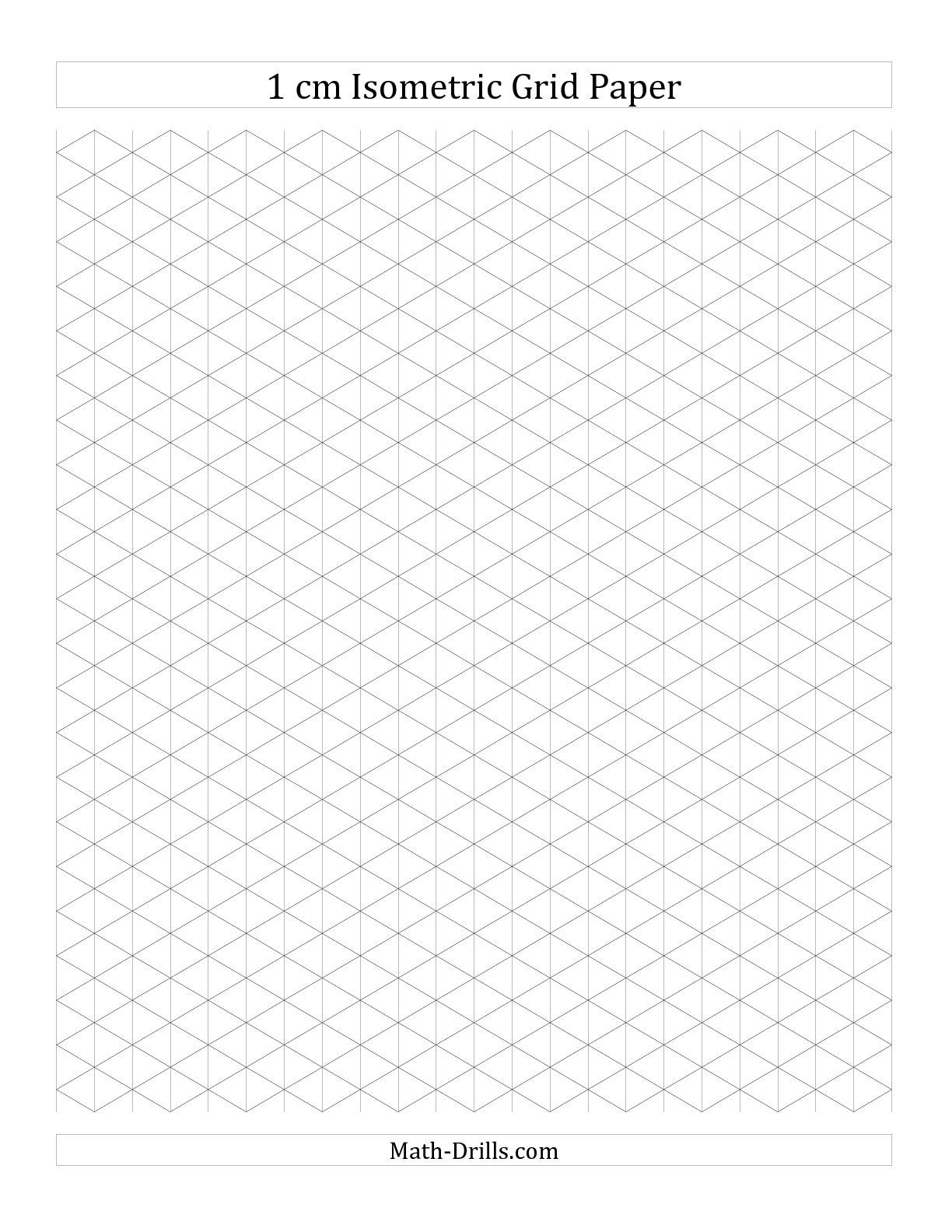 1 Cm Isometric Grid Paper Portrait A Math Worksheet