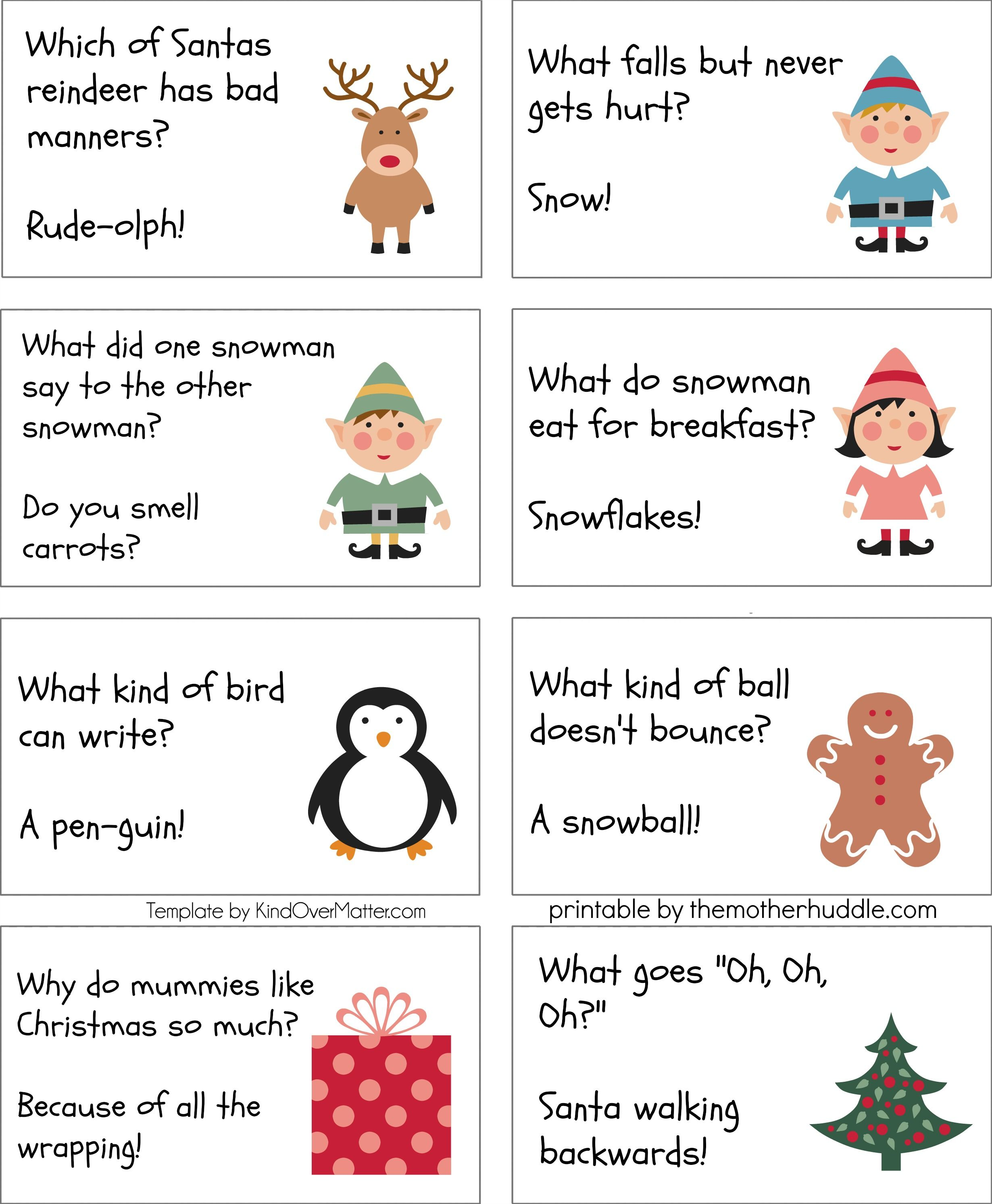 These Are Super To Print Out And Cut Up For Kids Xmas