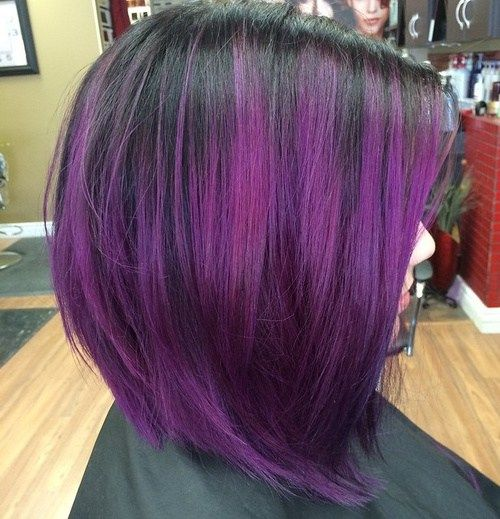 Black hair with light purple highlights the best black hair 2017 50 purple ombre hair ideas worth checking out motive pmusecretfo Images