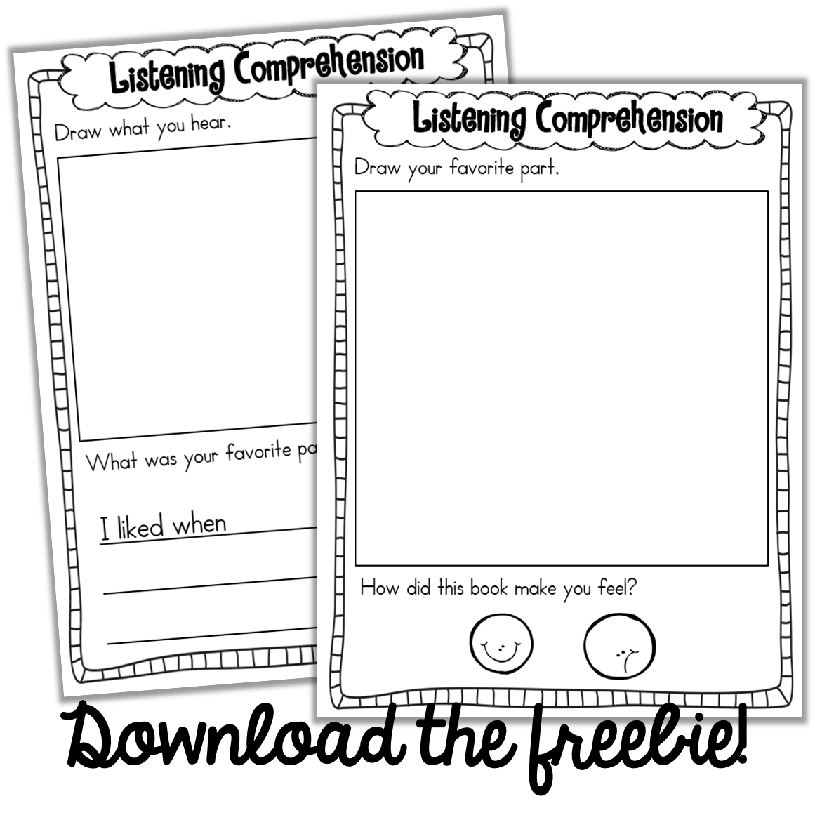 Daily Five Virtual Presentation Freebies Too Listening Comprehension Worksheet