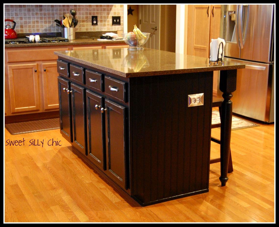 diy kitchen island diy kitchen island update sweet silly chic building my kitchen on kitchen island ideas black id=91597