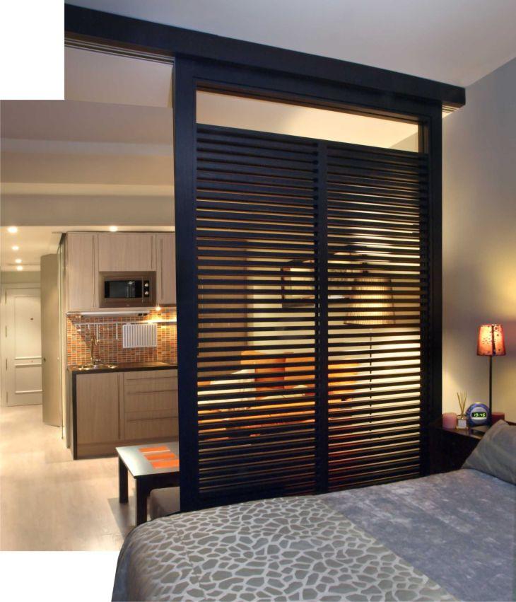 Great room divider for a studio apartment Great idea Condo idea