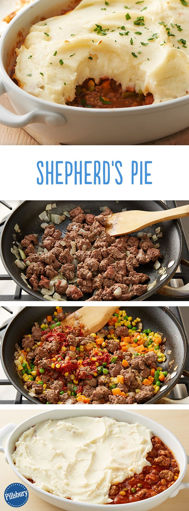 Wondering how to make a traditional shepherd's pie? Our version of this classic comfort food is made with garlic mashed potatoes