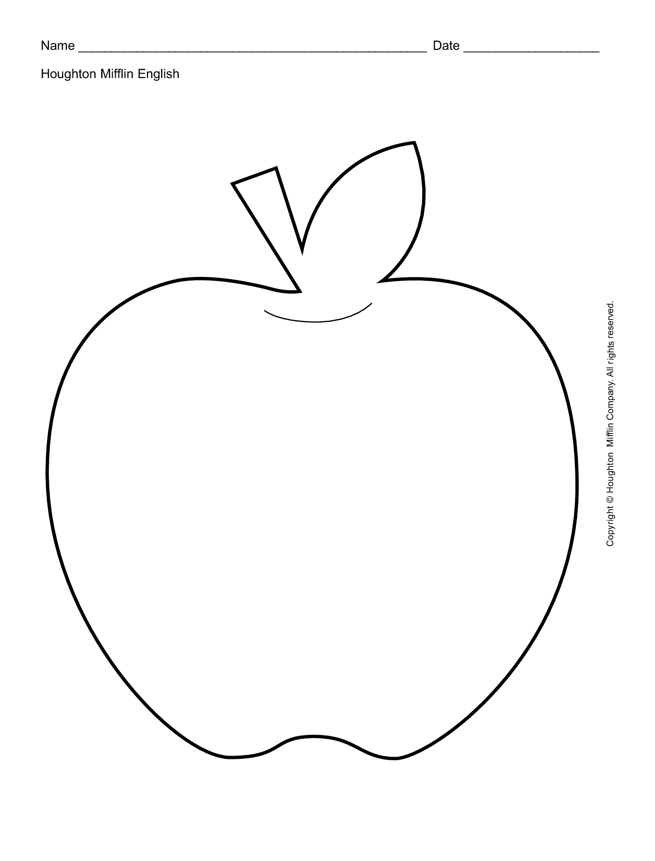 Apple Outline Printable