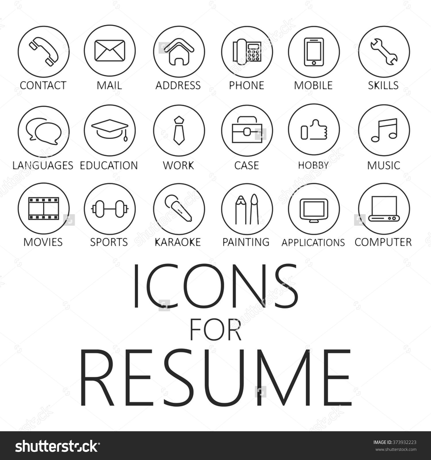 Resume Icons Free