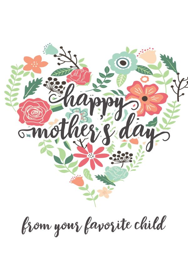 Happy Mothers Day Messages Free Printable Mothers Day ...