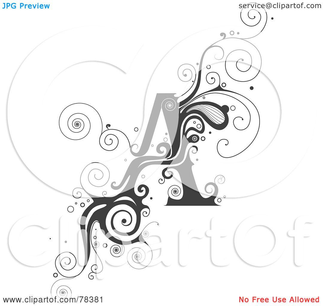 Royalty Free Rf Clipart Illustration Of A Vine Alphabet