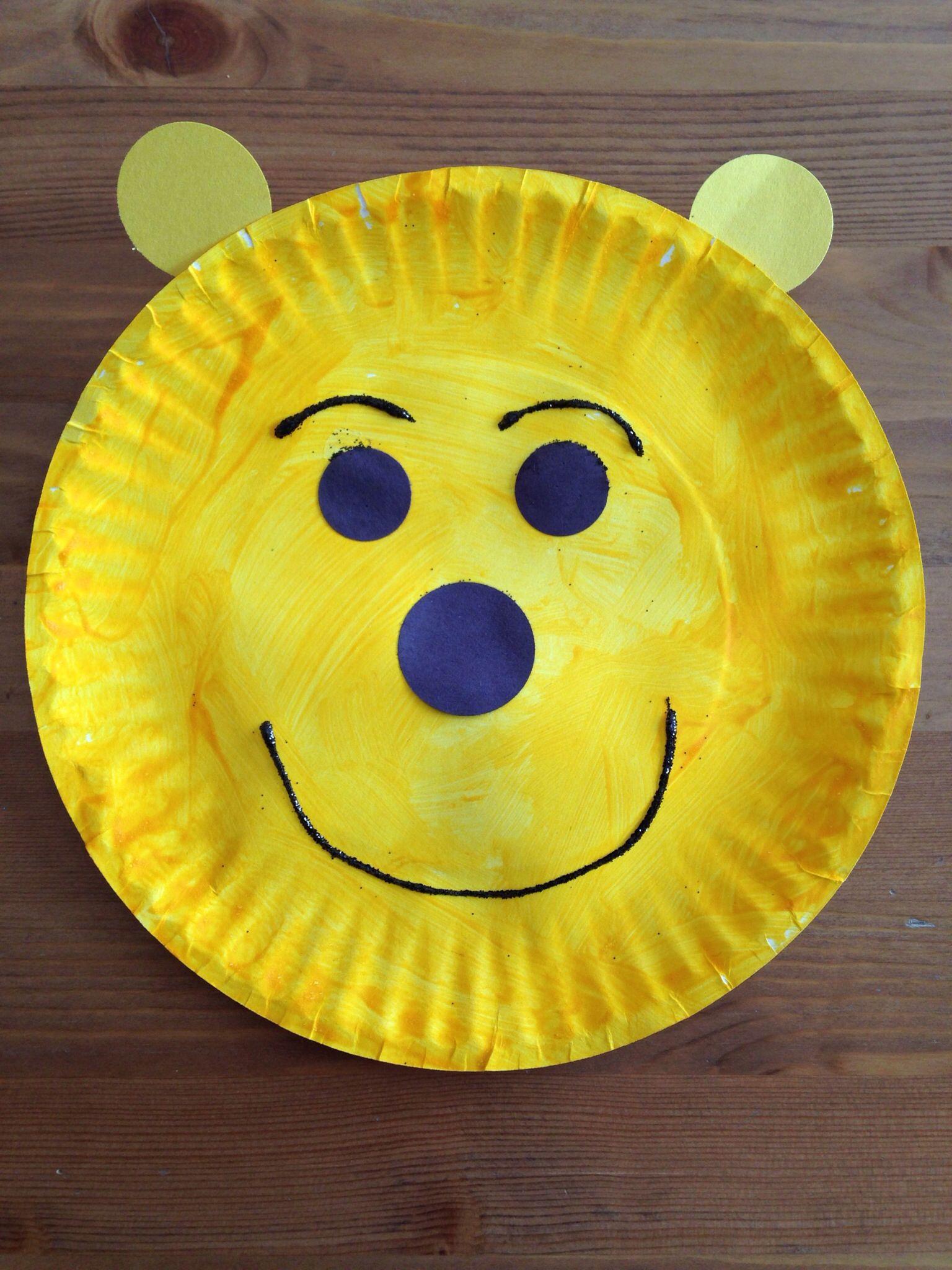 Paper Plate Winnie The Pooh Craft