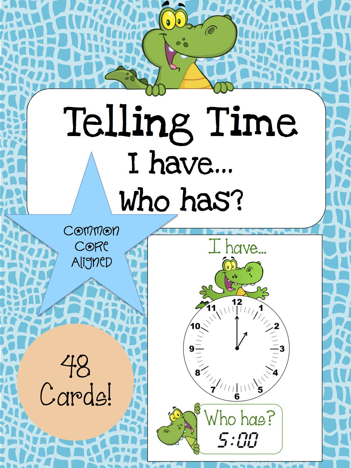 Telling Time Activity Speaking Amp Listening I Have Who Has Game