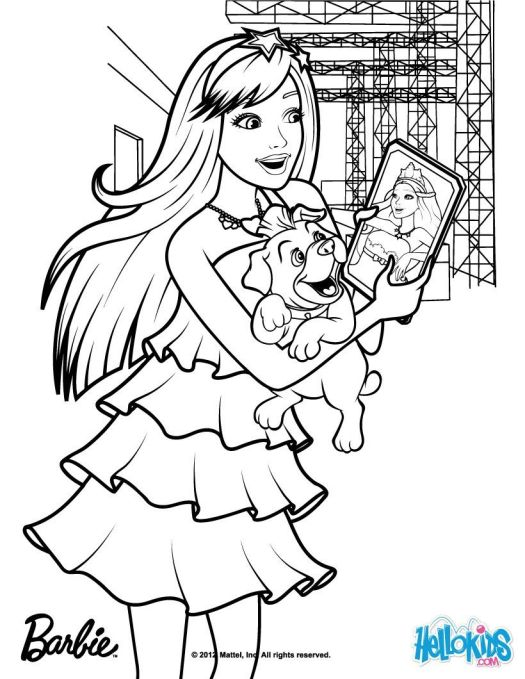 Pop Star Coloring Pages Print