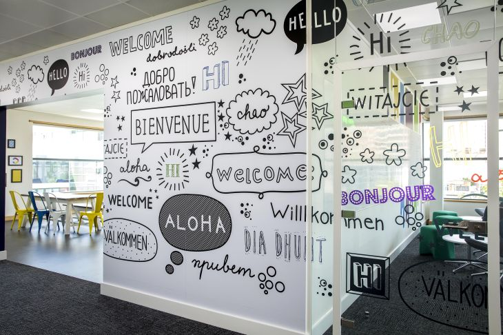 vinylimpression Custom wall graphics for office fit out