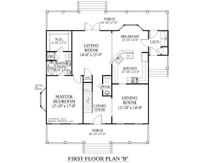 House Plan 2051 B Ashland First Floor Colonial Cottage 1