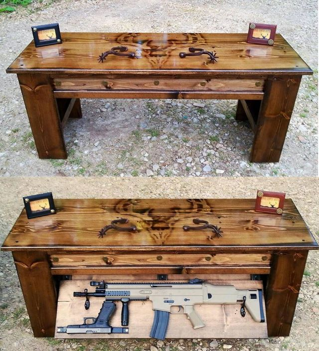 Handmade Rustic Furniture hidden partment furniture secret